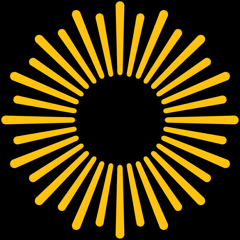yellow sunburst graphic
