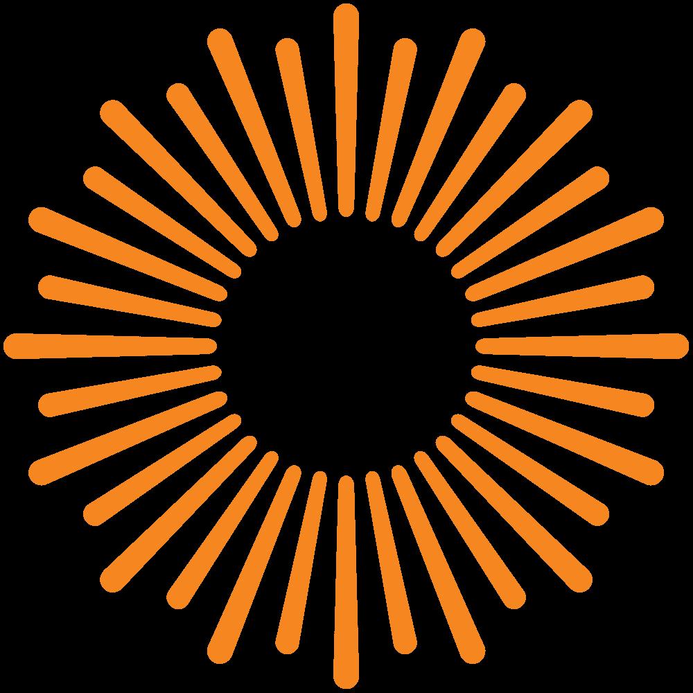 orange sunburst graphic